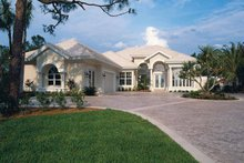 Mediterranean Exterior - Front Elevation Plan #930-24