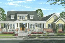 Architectural House Design - Colonial Exterior - Front Elevation Plan #46-864