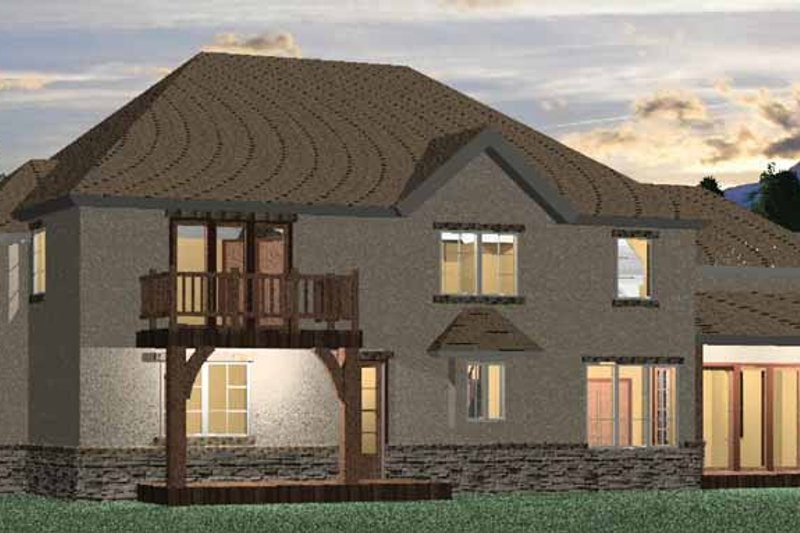 Country Exterior - Rear Elevation Plan #937-9 - Houseplans.com