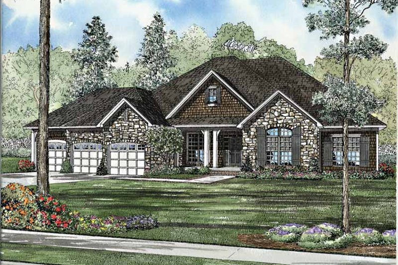 Country Exterior - Front Elevation Plan #17-3136
