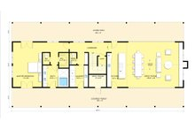 Modern Farmhouse style plan, modern design home, main level floor plan