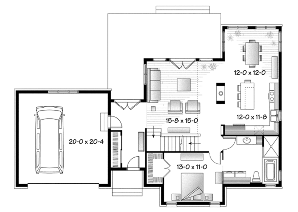 Country Floor Plan - Main Floor Plan Plan #23-2590