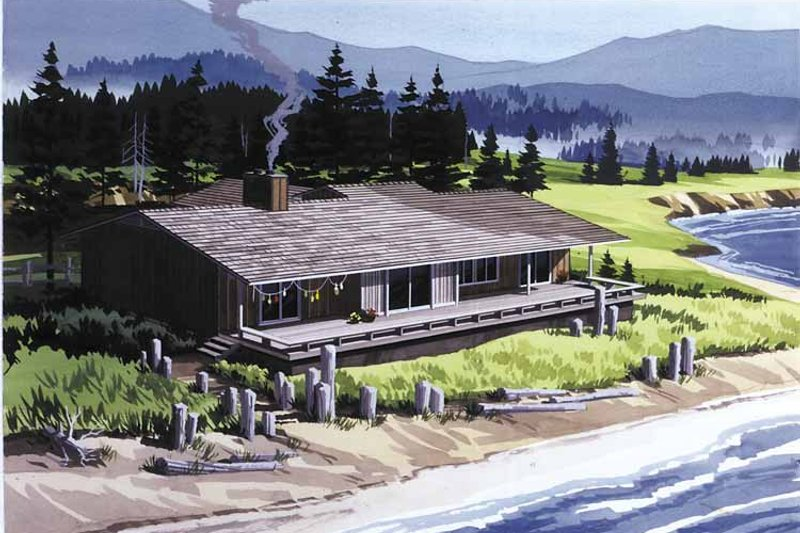 Dream House Plan - Contemporary Exterior - Front Elevation Plan #320-808