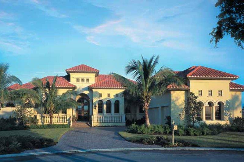 House Plan Design - Mediterranean Exterior - Front Elevation Plan #930-107