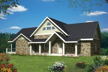 Ranch Exterior - Front Elevation Plan #117-856