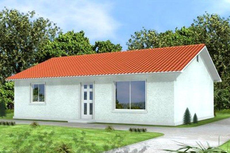 Adobe / Southwestern Style House Plan - 2 Beds 2 Baths 910 Sq/Ft Plan #1-128