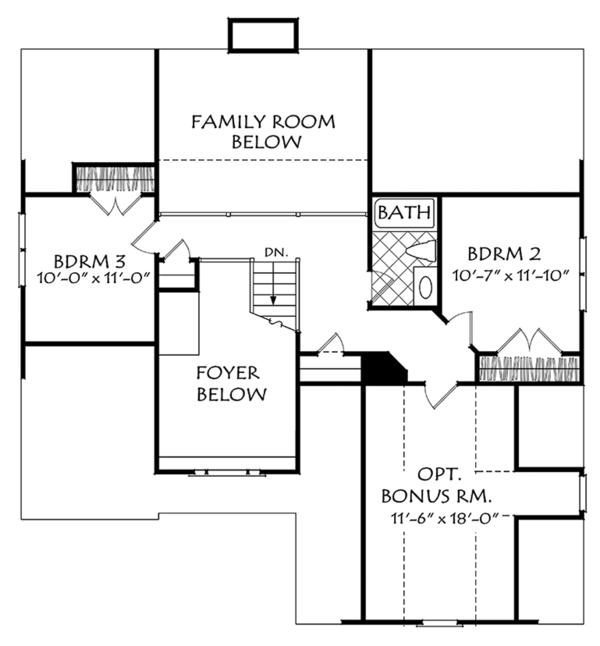 European Floor Plan - Upper Floor Plan Plan #927-967