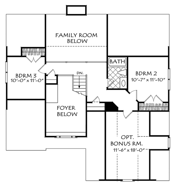 European Floor Plan - Upper Floor Plan Plan #927-967