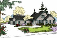 Dream House Plan - Craftsman Exterior - Front Elevation Plan #60-1003