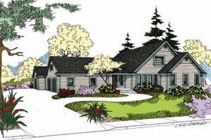 Dream House Plan - Craftsman Exterior - Front Elevation Plan #60-1003