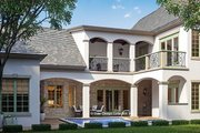 European Style House Plan - 4 Beds 5 Baths 3103 Sq/Ft Plan #930-445 Exterior - Rear Elevation