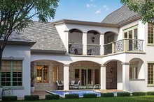 Home Plan - European Exterior - Rear Elevation Plan #930-445