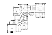 Tudor Style House Plan - 5 Beds 5 Baths 7398 Sq/Ft Plan #928-275 Floor Plan - Upper Floor Plan