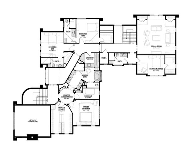 House Plan Design - Tudor Floor Plan - Upper Floor Plan #928-275