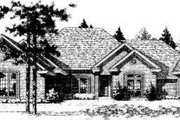 Traditional Style House Plan - 4 Beds 3 Baths 3292 Sq/Ft Plan #310-170 Exterior - Front Elevation