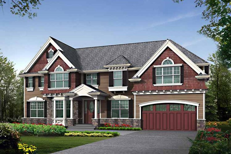 Craftsman Exterior - Front Elevation Plan #132-461 - Houseplans.com