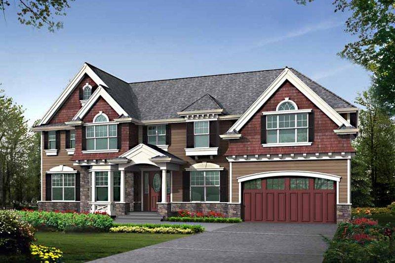 Home Plan - Craftsman Exterior - Front Elevation Plan #132-461