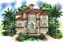 Architectural House Design - Mediterranean Exterior - Front Elevation Plan #1017-154