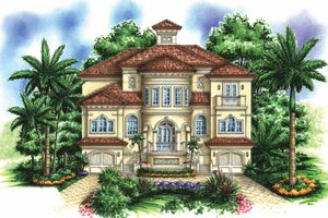 House Design - Mediterranean Exterior - Front Elevation Plan #1017-154