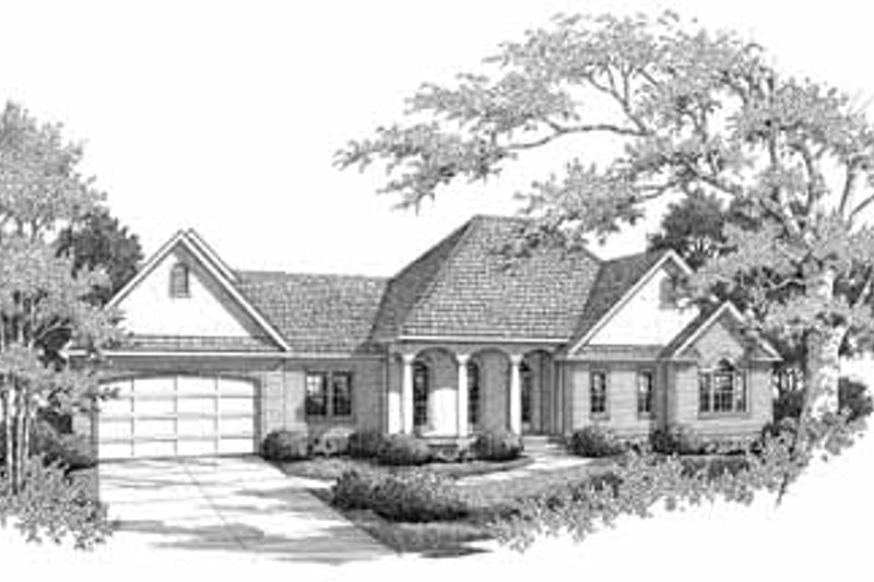 Architectural House Design - Traditional Exterior - Front Elevation Plan #14-160