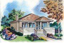 House Blueprint - Cottage Exterior - Front Elevation Plan #18-163