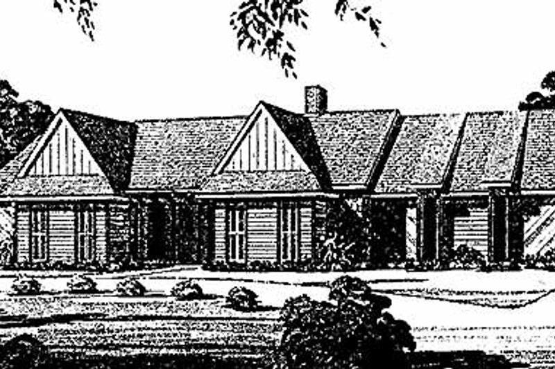 Traditional Exterior - Front Elevation Plan #45-474