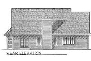 Traditional Style House Plan - 3 Beds 2 Baths 1537 Sq/Ft Plan #70-142 Exterior - Rear Elevation
