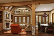 European Style House Plan - 3 Beds 2 Baths 1999 Sq/Ft Plan #119-420 Interior - Family Room