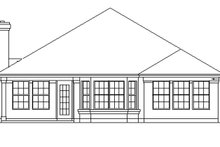 Mediterranean Exterior - Rear Elevation Plan #472-95