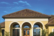 Dream House Plan - Mediterranean Exterior - Front Elevation Plan #930-58