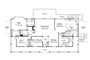 Ranch Style House Plan - 3 Beds 2 Baths 2213 Sq/Ft Plan #57-635