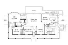 Ranch Floor Plan - Main Floor Plan Plan #57-635