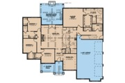 European Style House Plan - 4 Beds 2.5 Baths 2556 Sq/Ft Plan #923-76 Floor Plan - Main Floor