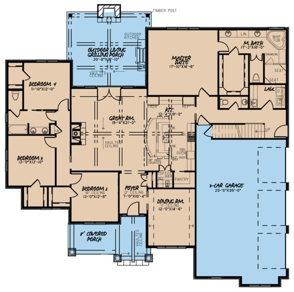 House Plan Design - European Floor Plan - Main Floor Plan #923-76