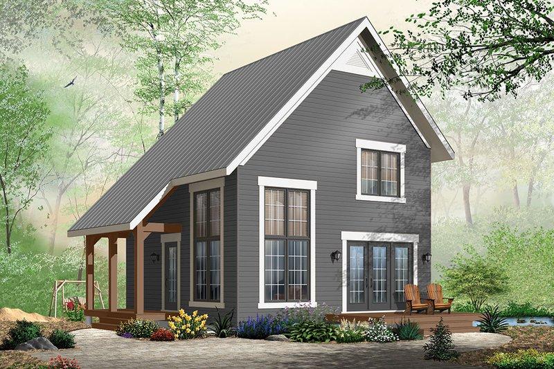 Cabin Exterior - Front Elevation Plan #23-2267 - Houseplans.com