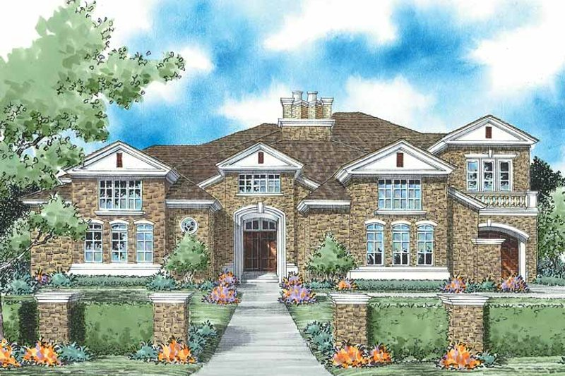 Dream House Plan - European Exterior - Front Elevation Plan #930-333