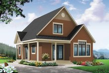 Home Plan - Country Exterior - Front Elevation Plan #23-2581