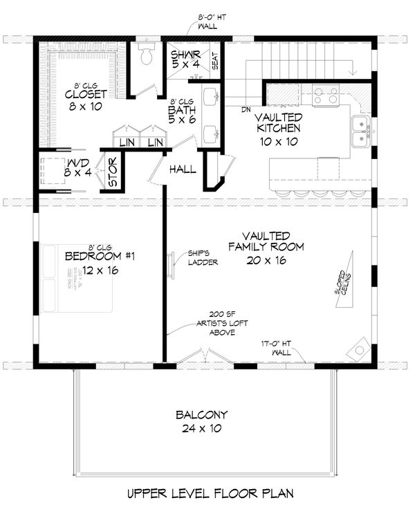 Contemporary Floor Plan - Main Floor Plan Plan #932-67