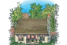 House Plan Design - Adobe / Southwestern Exterior - Rear Elevation Plan #1016-111