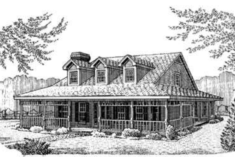 Southern Exterior - Front Elevation Plan #410-218 - Houseplans.com