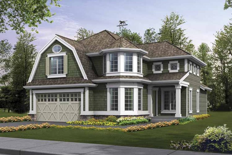 Craftsman Exterior - Front Elevation Plan #132-371