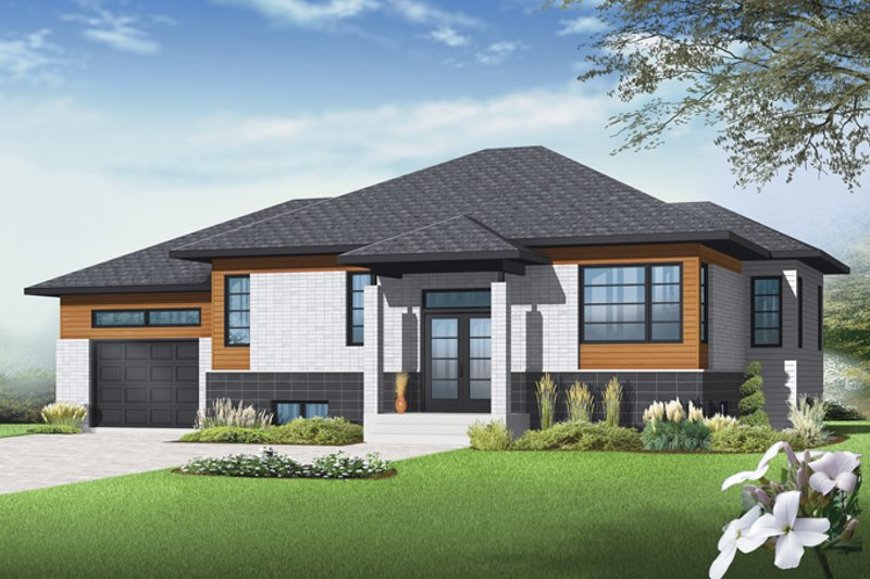 Home Plan - Contemporary Exterior - Front Elevation Plan #23-2568