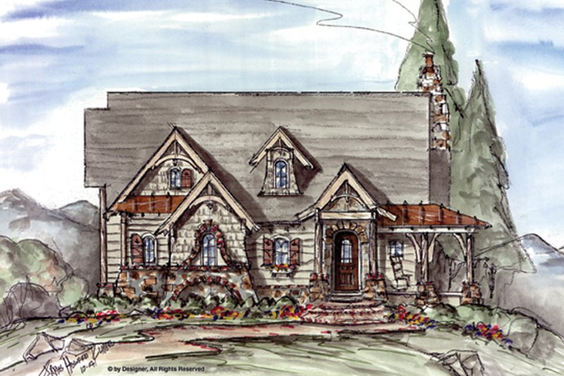 Craftsman Exterior - Front Elevation Plan #54-370