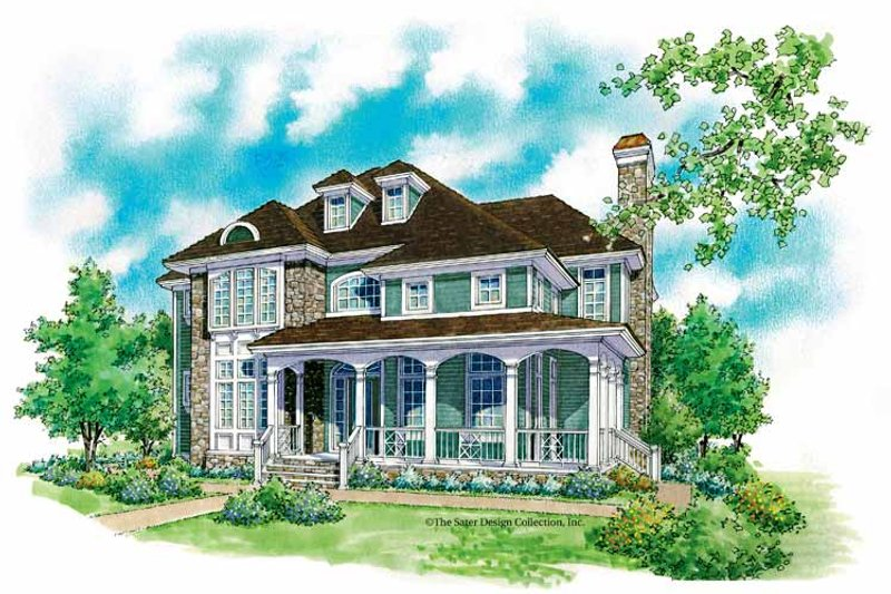 Architectural House Design - Country Exterior - Front Elevation Plan #930-199