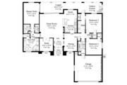 Mediterranean Style House Plan - 3 Beds 2 Baths 2042 Sq/Ft Plan #930-453 Floor Plan - Main Floor Plan