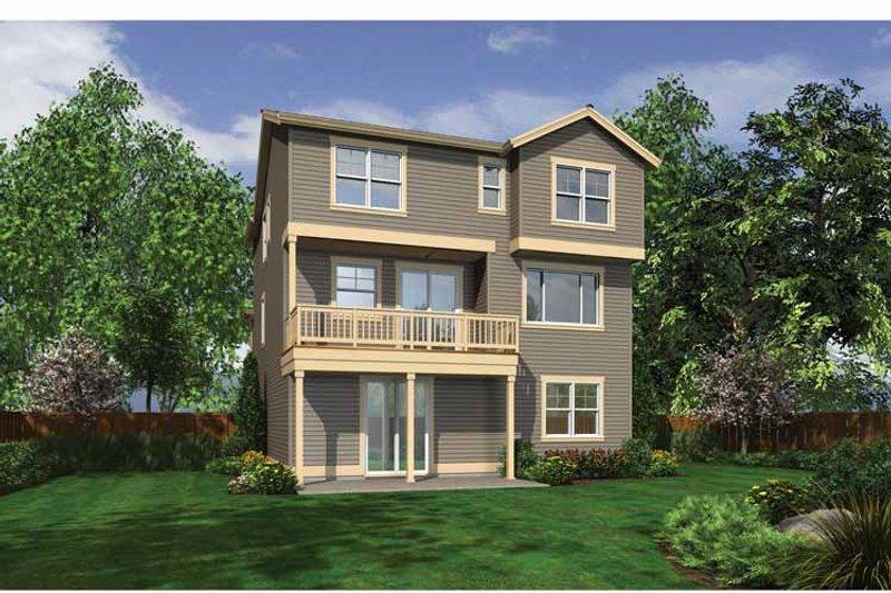 Craftsman Exterior - Rear Elevation Plan #132-559 - Houseplans.com