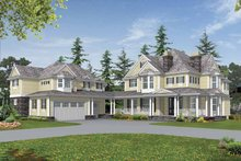 Architectural House Design - Country Exterior - Front Elevation Plan #132-516