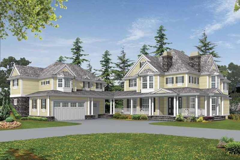 Country Exterior - Front Elevation Plan #132-516 - Houseplans.com