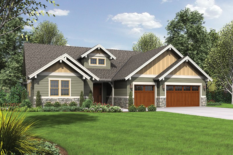 Craftsman style house plan 3 beds 2 5 baths 2368 sq ft for 90s house exterior