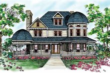 Victorian Exterior - Front Elevation Plan #72-894
